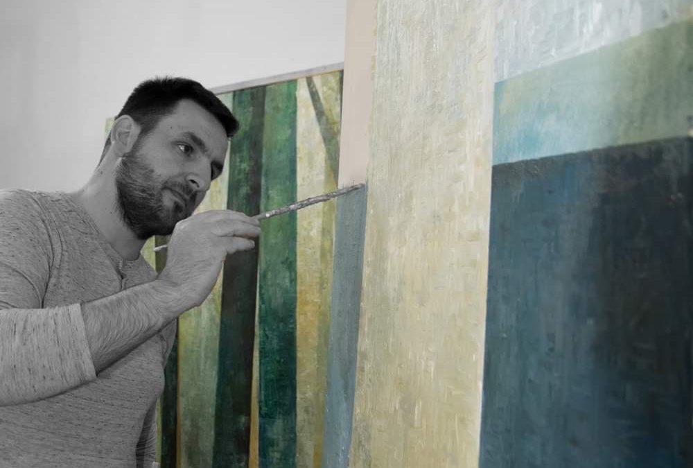 Athelier photos of artist, Daniel Tarcsi