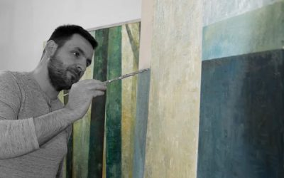 Atelier photos of artist, Dániel Tarcsi