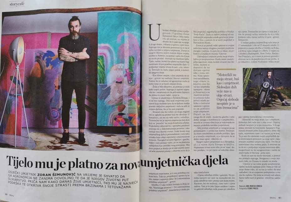 Article with Zoran Simunovic at Croatian Story Magazine
