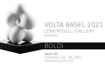 Invitation to VOLTA Basel Show presenting, Boldi Sculptor at booth B2